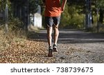 back view of sport man with... | Shutterstock . vector #738739675