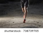 front view of sport man with... | Shutterstock . vector #738739705