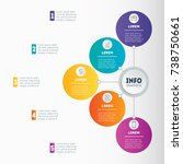 examples of infographics  how... | Shutterstock .eps vector #738750661