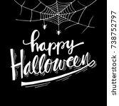 happy halloween greeting card | Shutterstock .eps vector #738752797