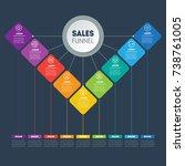 business presentation concept... | Shutterstock .eps vector #738761005