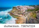 panoramic view of azenhas do... | Shutterstock . vector #738767224