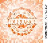 tolerance abstract orange...   Shutterstock .eps vector #738768169