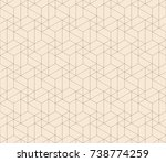 subtle line seamless geometric... | Shutterstock .eps vector #738774259