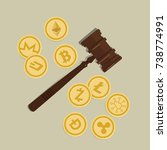 bit coin crypto currency law... | Shutterstock .eps vector #738774991