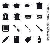16 vector icon set   pan  saute ... | Shutterstock .eps vector #738780334