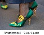 milan   september 21  woman... | Shutterstock . vector #738781285