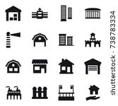 16 vector icon set   warehouse  ... | Shutterstock .eps vector #738783334