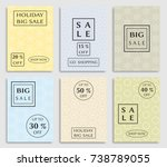 collection of sale banners ... | Shutterstock .eps vector #738789055
