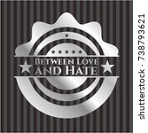 between love and hate silvery... | Shutterstock .eps vector #738793621
