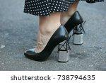 milan   september 21  woman... | Shutterstock . vector #738794635