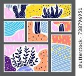 set of creative universal... | Shutterstock .eps vector #738796951
