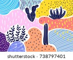creative geometric colorful... | Shutterstock .eps vector #738797401