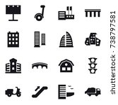 16 vector icon set   billboard  ... | Shutterstock .eps vector #738797581