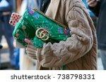 milan   september 21  woman...   Shutterstock . vector #738798331