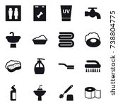 16 vector icon set   wc  uv... | Shutterstock .eps vector #738804775