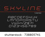 skyline vector decorative... | Shutterstock .eps vector #738805741