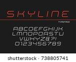skyline vector decorative... | Shutterstock .eps vector #738805741