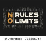 no rules no limits t shirt and... | Shutterstock .eps vector #738806764