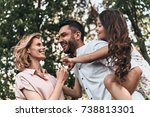 enjoying every moment together. ... | Shutterstock . vector #738813301