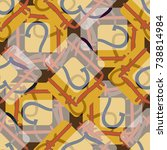 new colorful seamless pattern... | Shutterstock .eps vector #738814984