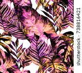 watercolor seamless pattern... | Shutterstock . vector #738816421