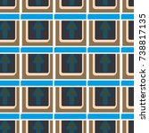 seamless abstract pattern with... | Shutterstock .eps vector #738817135