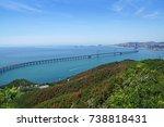 dalian xinghai bay bridge       ... | Shutterstock . vector #738818431