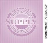 supply vintage pink emblem   Shutterstock .eps vector #738828769
