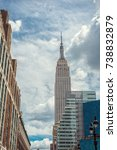 empire state building  new york ... | Shutterstock . vector #738832879