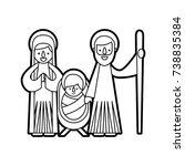 christmas nativity scene holy... | Shutterstock .eps vector #738835384