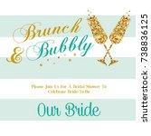 bridal shower invitation | Shutterstock . vector #738836125