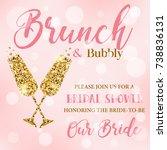 bridal shower invitation | Shutterstock . vector #738836131