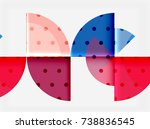 circle elements on black... | Shutterstock .eps vector #738836545