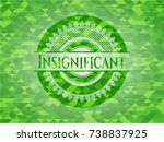 insignificant realistic green... | Shutterstock .eps vector #738837925