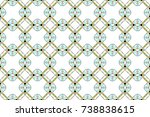 colorful seamless ornament for... | Shutterstock . vector #738838615