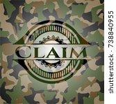 claim on camo texture | Shutterstock .eps vector #738840955
