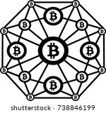 crypto currency | Shutterstock .eps vector #738846199
