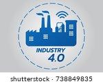 industrial 4.0 concept  smart... | Shutterstock .eps vector #738849835
