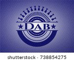 dab badge with denim background | Shutterstock .eps vector #738854275