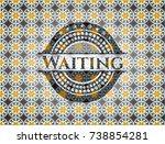 waiting arabesque emblem... | Shutterstock .eps vector #738854281