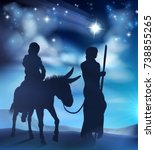 nativity christmas scene... | Shutterstock .eps vector #738855265