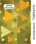 expanding triangles | Shutterstock .eps vector #738856231