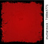 scary frame | Shutterstock .eps vector #738865771