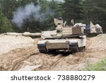 us tank abrams a1m1 in military ...   Shutterstock . vector #738880279