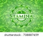 stamina realistic green mosaic... | Shutterstock .eps vector #738887659