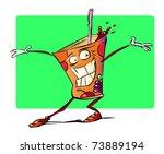 vector illustration cocktail... | Shutterstock .eps vector #73889194