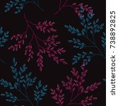 elegant seamless pattern with... | Shutterstock . vector #738892825