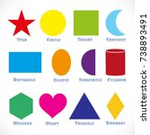vector shape sign for the... | Shutterstock .eps vector #738893491