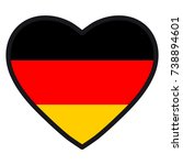 flag of germany in the shape of ... | Shutterstock . vector #738894601